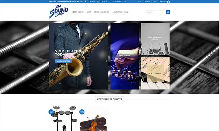 Sound Shop drogheda website